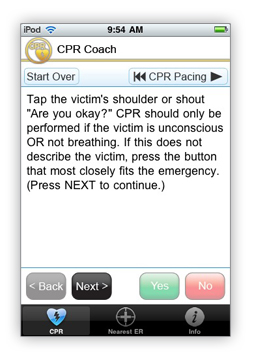 CPR Coach instructions